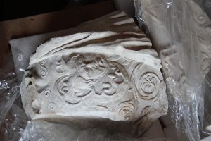 Original frieze fragment